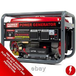 Powerking Générateur D'essence Pkb5000es 3200w Wolf 7hp 4 Stroke Démarrage Électrique