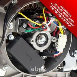 Powerking Générateur D'essence Pkb5000lr 3200w 4kva Wolf 7hp 4 Stroke & Wheel Kit
