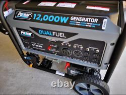 Pulsar 12000 Watt Portable Dual Fuel Propane/gas Generator Démarrage Électrique G12kbn