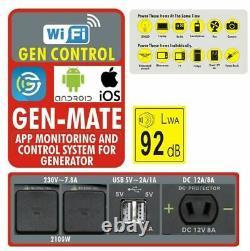 Se2000i 2.1kw Suitcase Inverter Generator Inc Roues 2100w Neilsen & Kipor Uk