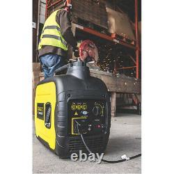 Stanley Silent Inverter Générateur D'essence Sig2000 3.5l 2000w 240v 4 Heures De Course