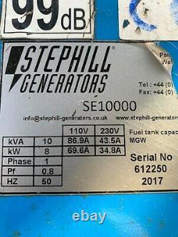 Stephill Se10000 10,0 Kva Honda Gx630 Générateur D'essence De Démarrage Électrique