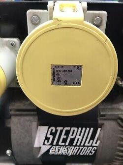 Stephill Se7500ec Générateur D'essence 7.5kva 110v 13a 32a 63a Honda Gx390 13hp