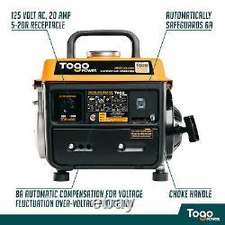 Togopower Gg1000 800 Nominale 1000 Puissance Crête Essence Générateur Portable Powered