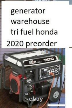 Tri Carburant 13000 Watts Propane Générateur De Gaz Naturel Nouveau Moteur Honda 13kw Massive