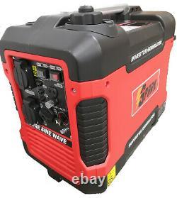 Valise Silencieuse Onduleur Générateur D'essence 2000w Portable Camping 4 Temps Puissance