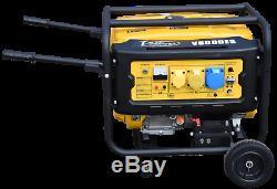 Villiers V6000es Démarreur Électrique Essence Générateur De 6kva Avec Kit Roue