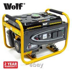 Wolf Générateur D'essence Wpl3000lr 2500w 3.12kva 5.5hp 4 Traction À Une Seule Tension