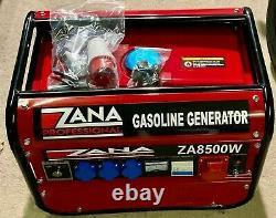 Zana Professional 8.5kva Générateur D'essence (za 8500 W) Rrp Euro 1459